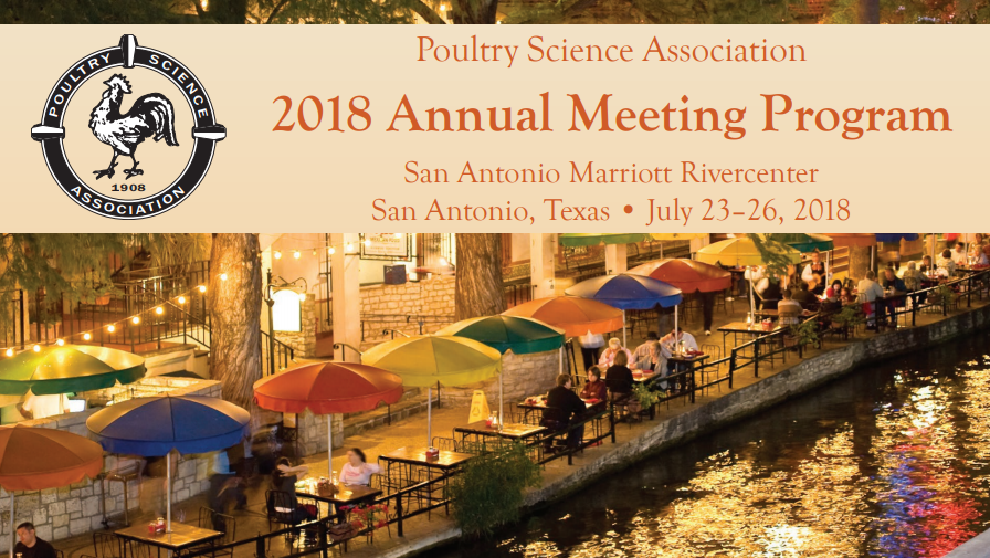 Poultry science association - 2018 meeting